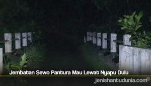 Jembatan Sewo Pantura Mau Lewat Nyapu Dulu